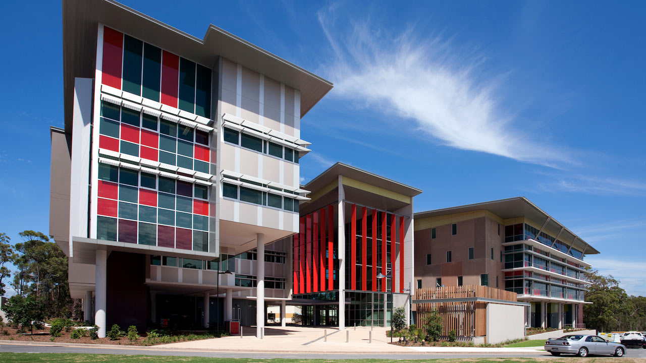 The New Science Engineering and Architecture building on Griffith Gold Coast's campus