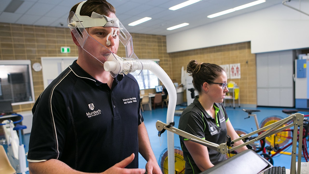 Students practice hands-on sports science research at Murdoch University in Perth, Australia