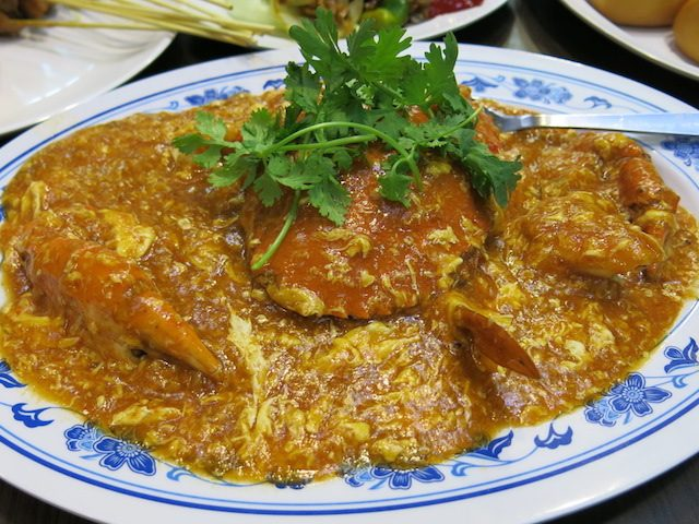 Chili Crab dish in Singapore