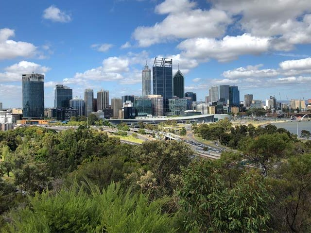 Perth city taken from King's Park